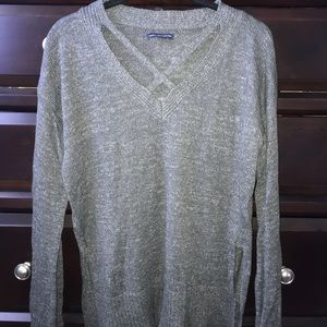 American Eagle cross necked sweater size Medium!